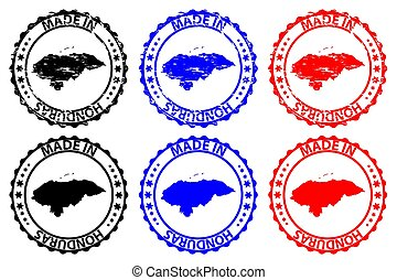 Made in Honduras - rubber stamp