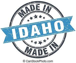 made in Idaho blue round vintage stamp