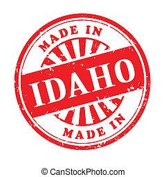 made in Idaho grunge rubber stamp - illustration of grunge...