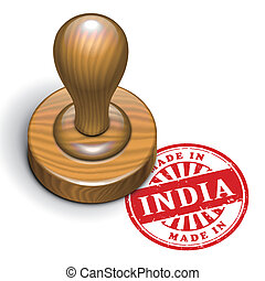 made in India grunge rubber stamp