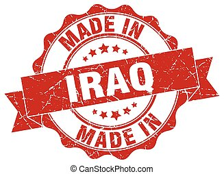 made in Iraq round seal