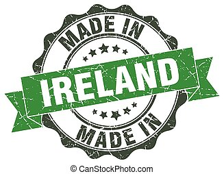 made in Ireland round seal