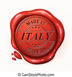 made in Italy 3d red wax seal
