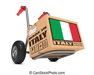 Made in Italy - Cardboard Box on Hand Truck. - Cardboard Box...