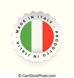 Made in Italy - Italian language Prodotto in Italia llabel