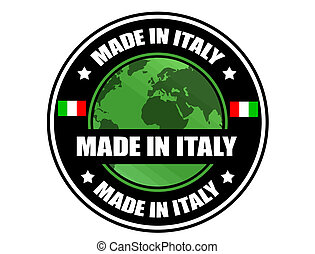Made in Italy label, vector illustration