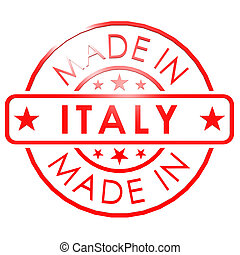 Made in Italy red seal