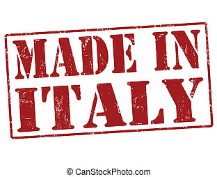 Made in Italy grunge rubber stamp on white, vector illustration