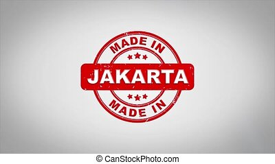 Made In JAKARTA Signed Stamping Text Wooden Stamp Animation....