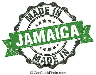 made in Jamaica round seal