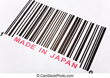 Made in Japan and barcode, business concept