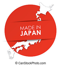 Made in Japan vector illustration