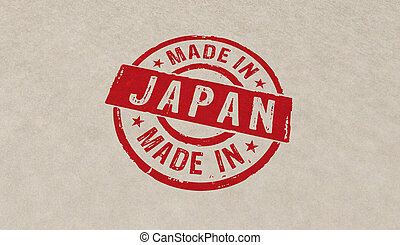 Made in Japan stamp and stamping - Made in Japan stamp icons...