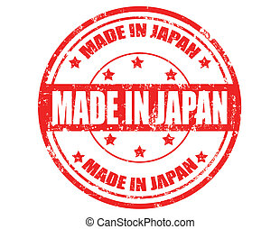 Made in Japan-stamp - Grunge rubber stamp with text Made in ...