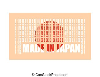 Made in Japan text and bar code from same words
