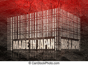 Made in Japan text - Made in Japan in bar code. Lines ...