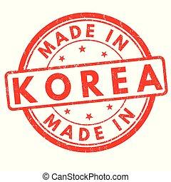Made in Korea grunge rubber stamp
