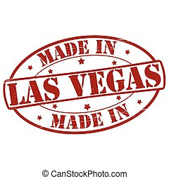 Made in Las Vegas - Stamp with text made in Las Vegas...