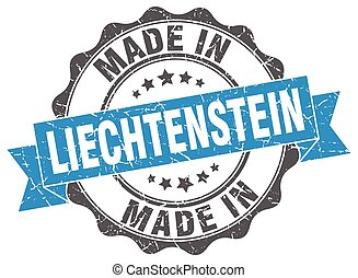 made in Liechtenstein round seal