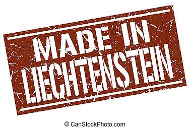 made in Liechtenstein stamp