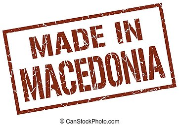made in Macedonia stamp