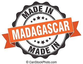 made in Madagascar round seal