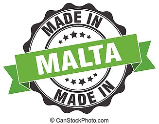 made in Malta round seal