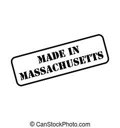 Made In Massachusetts Stamp Vector
