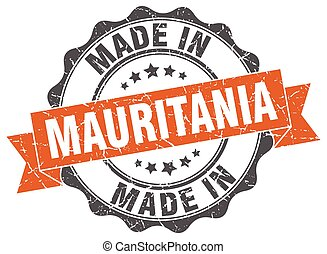 made in Mauritania round seal