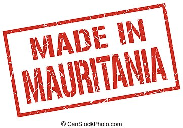 made in Mauritania stamp