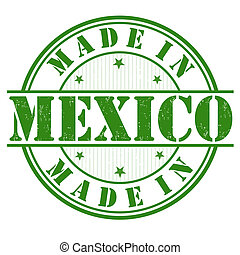 Made in Mexico grunge rubber stamp on white, vector illustration