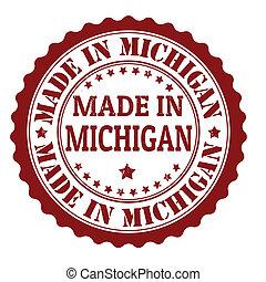 Made in Michigan stamp - Made in Michigan grunge rubber...
