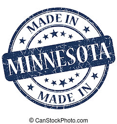 made in Minnesota blue round grunge isolated stamp