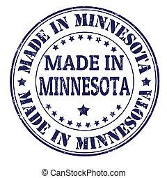 Made in Minnesota grunge rubber stamp, vector illustration