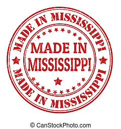 Made in Mississippi stamp - Made in Mississippi grunge ...