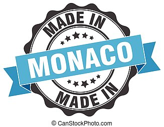 made in Monaco round seal