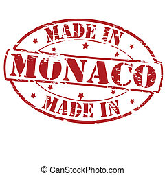 Made in Monaco - Rubber stamp with text made in Monaco...