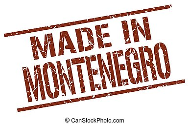 made in Montenegro stamp