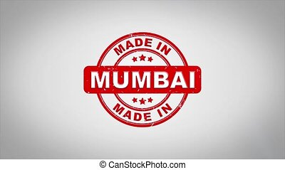 Made In MUMBAI Signed Stamping Text Wooden Stamp Animation....