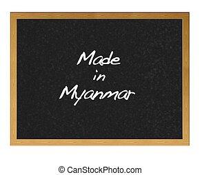 Made in Myanmar.
