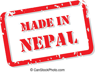 Made In Nepal Stamp