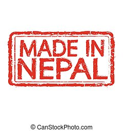 Made in NEPAL stamp text Illustration