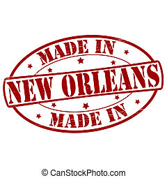 Stamp with text made in New Orleans inside, vector illustration