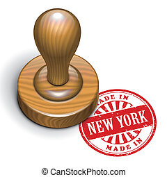 made in New York grunge rubber stamp