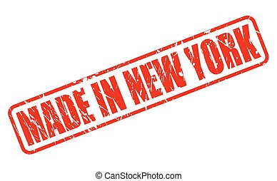 MADE IN NEW YORK RED STAMP TEXT
