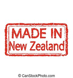 Made in New Zealand stamp text Illustration