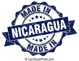 made in Nicaragua round seal