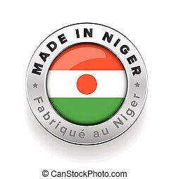 Made in Niger button vector