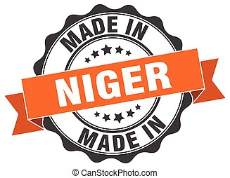 made in Niger round seal