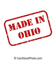 Made In Ohio Stamp Vector